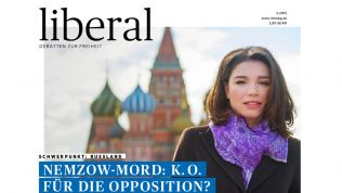 "Zhanna Nemzowa auf dem Cover des ""liberal"""