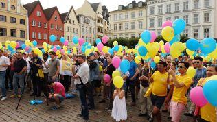 Aktionstag der FDP Meckelenburg-Vorpommern auf dem Marktplatz in Schwerin
