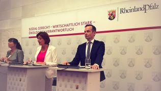 Ulrike Höfken, Malu Dreyer und Volker Wissing. Bild: facebook.com/Wissing.FDP