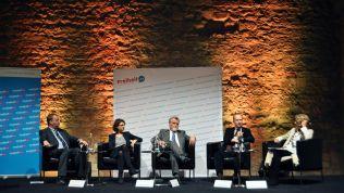 Das Panel des Hambacher Symposiums 2016 / Quelle: Friedrich-Naumann-Stiftung für die Freiheit