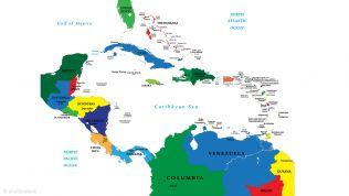 Landkarte von Mittelamerika