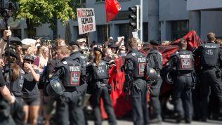 Demo gegen die NPD