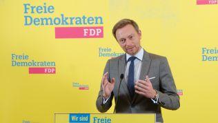 FDP-Chef Christian Lindner bei der Pressekonferenz
