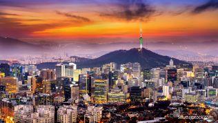 Die Skyline von Südkorea