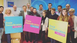 Das Wahlkampf-Team der FDP NRW mit Spitzenkandidat Christian Lindner