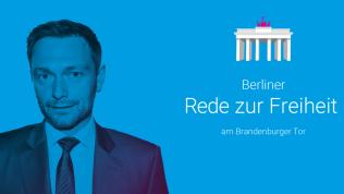 Christian Lindner hält die 11. Berliner Rede zur Freiheit / Quelle: Friedrich-Naumann-Stiftung für die Freiheit