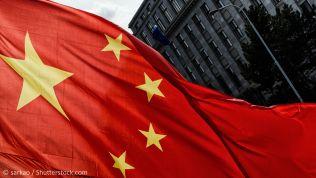 Die chinesische Flagge in Prag. Bild: sarkao / Shutterstock.com