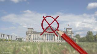 Wahlkreuz auf Reichstag