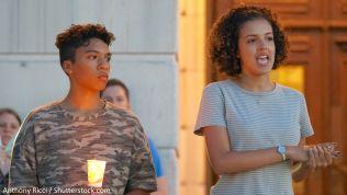 Bürgerrechtsaktivisten sprechen über die Ereignisse in Charlottesville. Bild: Anthony Ricci / Shutterstock.com