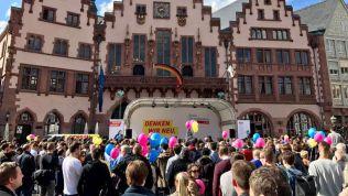 FDP auf dem Römerberg in Frankfurt