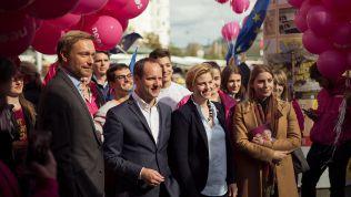 Christian Lindner unterwegs mit Matthias Strolz und den NEOS