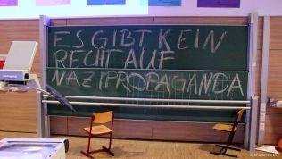 Spruch gegen Nazi-Propaganda