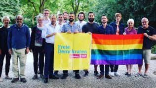 Die Freien Demokraten zeigen Flagge für Vielfalt und Respekt. Bild: FDP Schöneberg