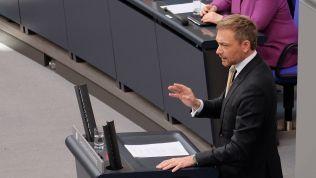 Christian Lindner spricht im Deutschen Bundestag