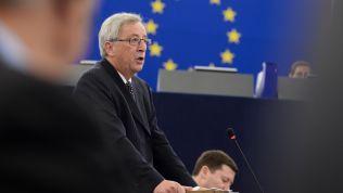 Jean-Claude Juncker hält seine letzte Rede vor dem EU-Parlament. Bild: Attribution-ShareAlike 2.0 Generic (CC BY-SA 2.0) // European Parliament