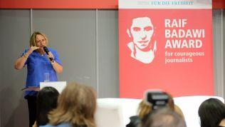 Sabine Leutheusser-Schnarrenberger bei der Preisverleihung. Bild: FNF