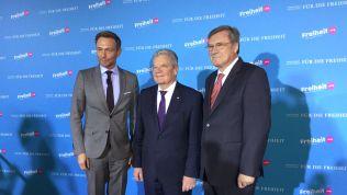 Christian Lindner, Joachim Gauck und Wolfgang Gerhardt. Bild: Christian Kroekel