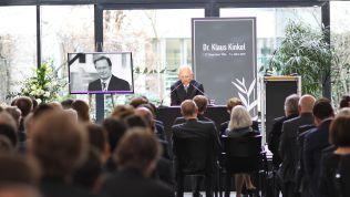 Wolfgang Schäuble bei der Gedenkfeier für Klaus Kinkel