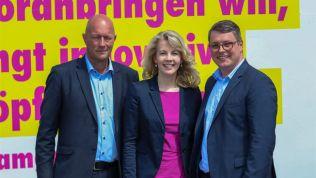 Thomas L. Kemmerich, Linda Teuteberg, Robert-Martin Montag, FDP, Landesparteitag, Landtagswahl, Thüringen
