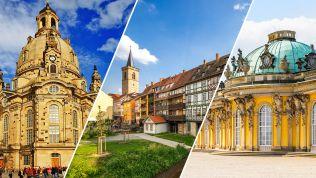 Dresden, Erfurt, Potsdam