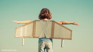 Kind, Flügel, Freiheit,