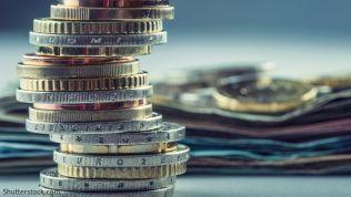 Geld, Münzen, Geldscheine, Euro