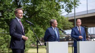 Christian Lindner, Armin Laschet und Joachim Stamp