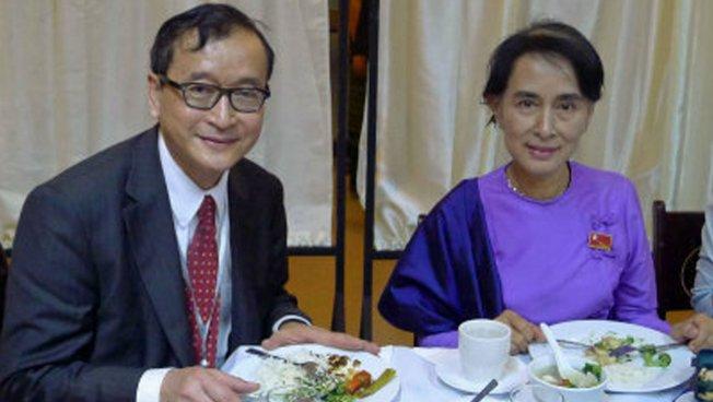 Sam Rainsy und Aung San Suu Kyi