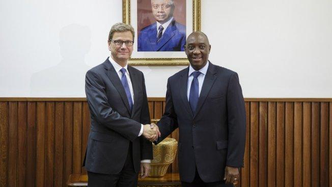 Guido Westerwelle in Mosambik