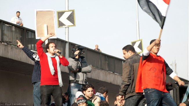 Demonstranten auf dem Tahrir-Platz in Kairo