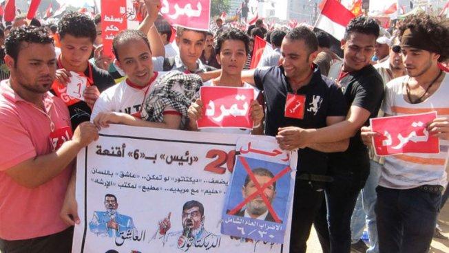 Demonstranten fordern Rücktritt Mursis