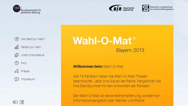 Wahl-O-Mat Bayern 2013