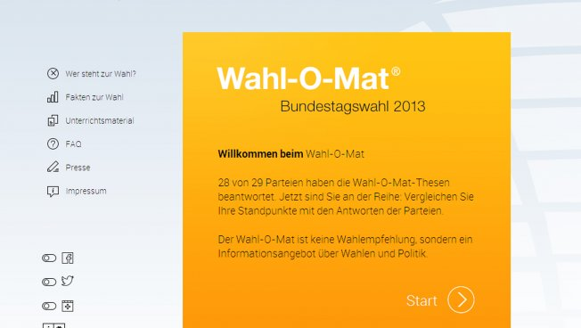 Wahl-O-Mat (Screenshot)