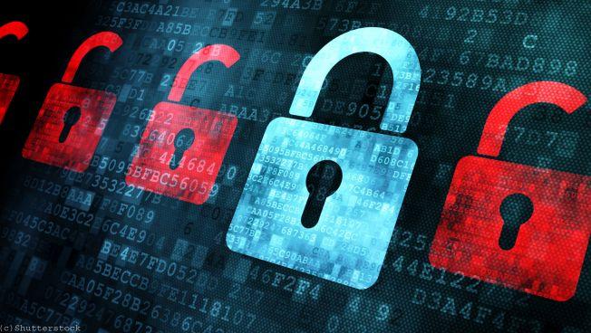 Digitale Schlösser: Datenschutzmotiv