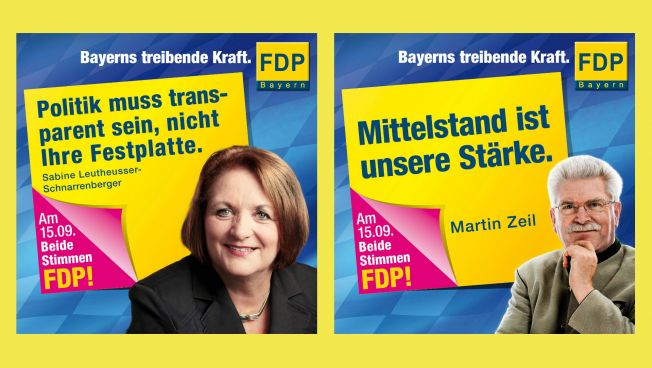 Wahlkampagne der FDP Bayern