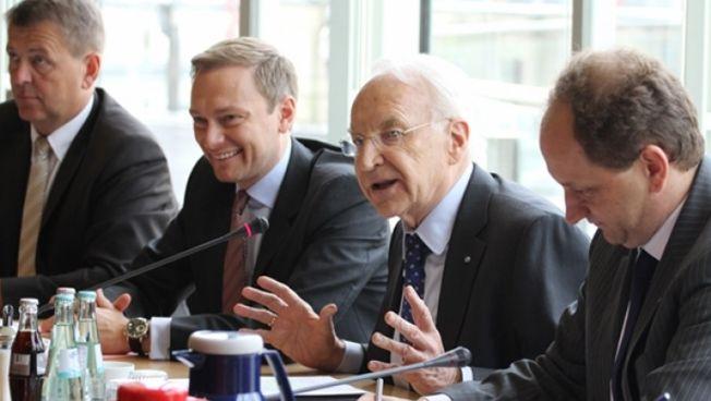 Christian Lindner, Edmund Stoiber und Alexander Graf Lambsdorff