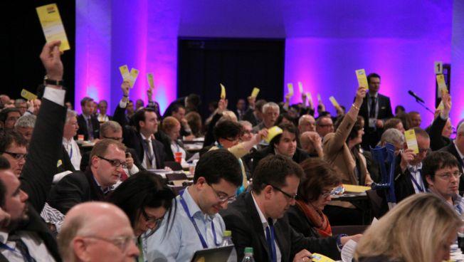 Delegierte auf dem Bundesparteitag