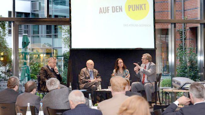 Michael Link, Richard Herzinger, Miriam Kosmehl und Wolfgang Gerhardt