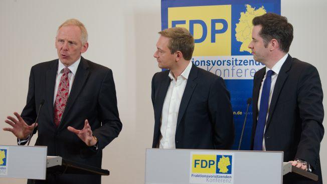 Frank Schmid, Christian Lindner und Christian Dürr