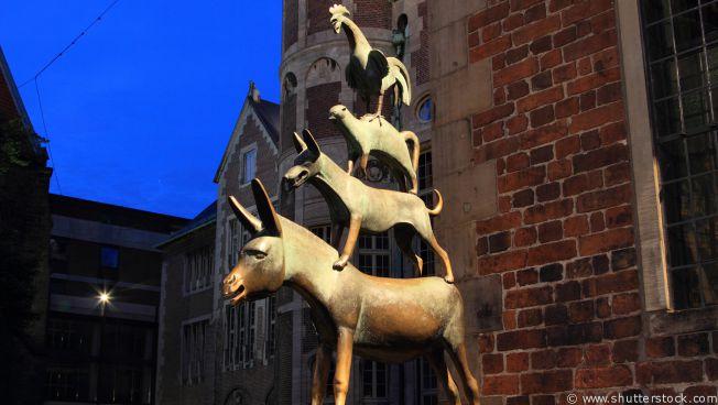 Bremer Stadtmusikanten (Quelle: shutterstock)