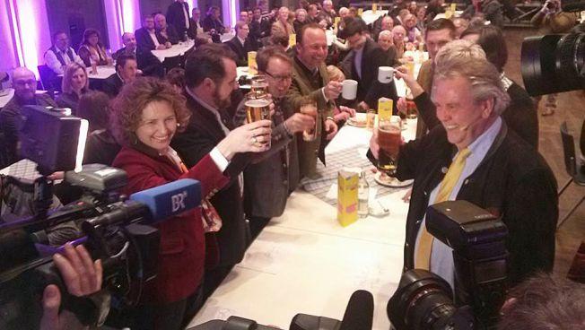 FDP-Generalsekretärin Nicola Beer und Bayerns FDP-Landeschef Albert Duin