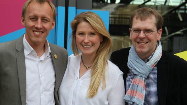 V.l.n.r.: Hauke Kilz, Lencke Steiner & Magnus Buhlert