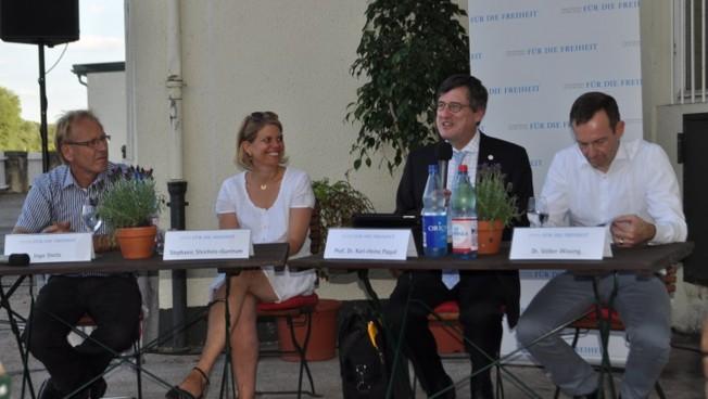 Ingo Steitz, Stephanie Steichele-Guntrum, Karl-Heinz Paqué und Volker Wissing