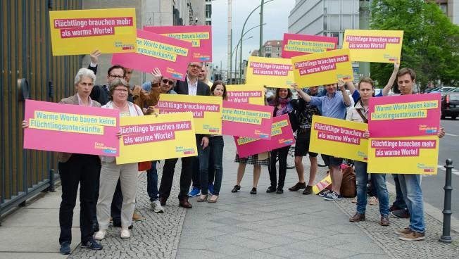 Demonstration für eine bessere Unterstützung der Kommunen