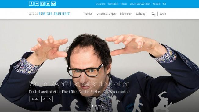 Screenshot des neuen freiheit.org