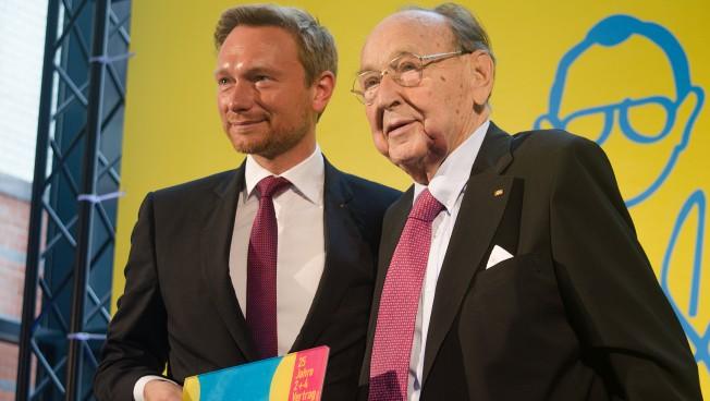 Christian Lindner und Hans-Dietrich Genscher