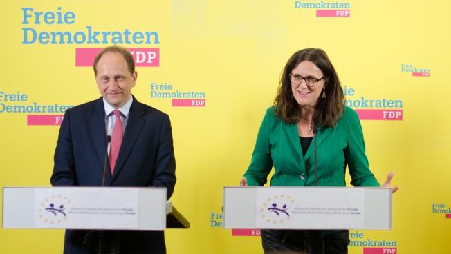 Alexander Graf Lambsdorff und Cecilia Malmström