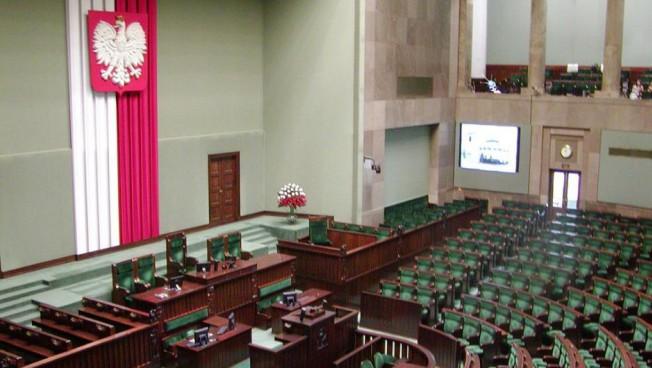 Plenarsaal des polnischen Parlaments