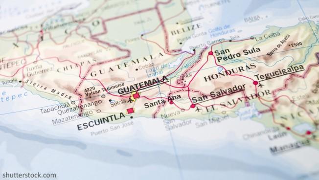 Landkarte von Guatemala