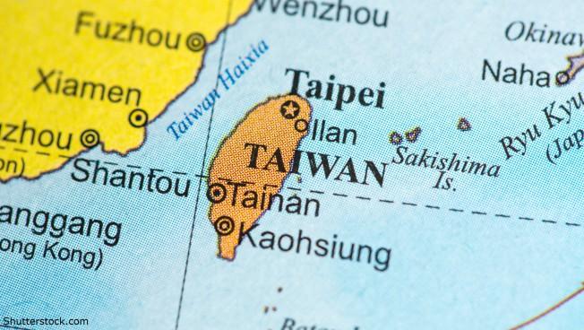 Taiwan auf der Weltkarte